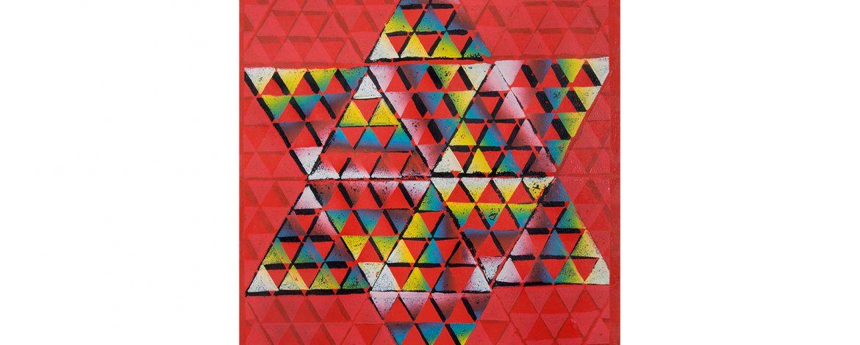 """Jens Schubert """"Silvester"""", Linoldruck, 60x50cm, 2014"""